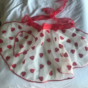 Vintage strawberry tissue apron